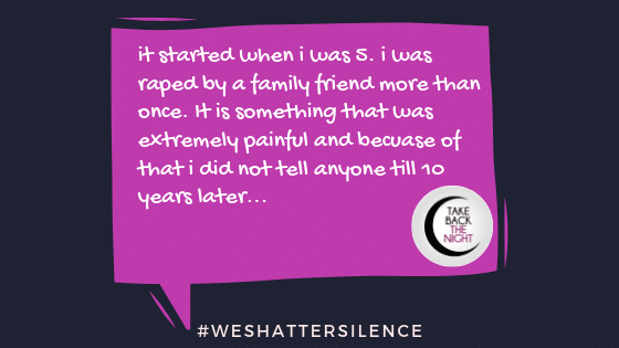 TW: child molestation, Rape. #Weshattersilence submission