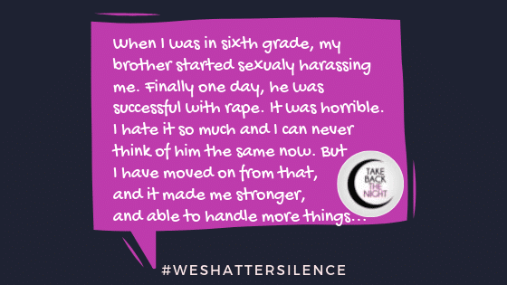 14 Years Old in Arlington, VA | #WeShatterSilence | Let This Story Be Heard By Clicking Share