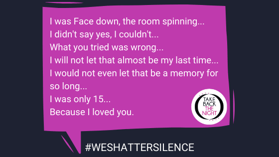 TW: Rape. #Weshattersilence submission from 33 Years Old in Philadelphia, PA